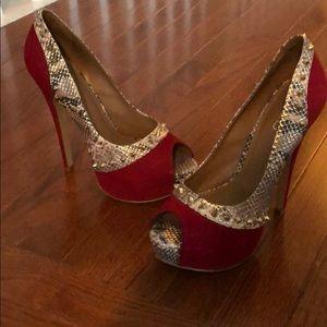 Studded Aldo Heels size 8.5 Gently worn w/tags